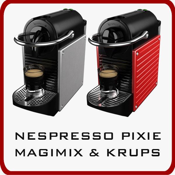 nespresso pixie magimix krups 3d model