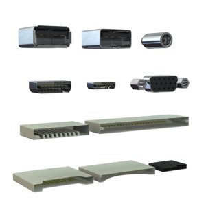 computer ports 3d model