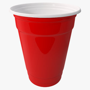 red plastic cup 3d 3ds