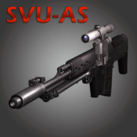 Sniper Rifle Dragunov SVU