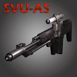3ds ots-03 svu sniper rifle
