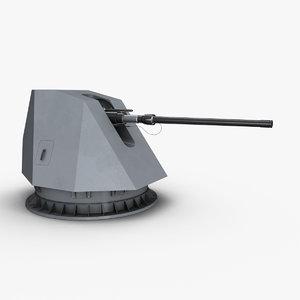 3d model oto melara 127mm 64