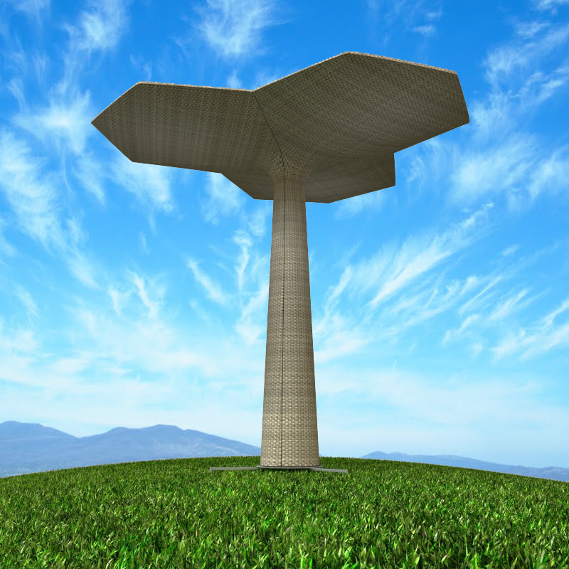 palm furniture garden 3d model
