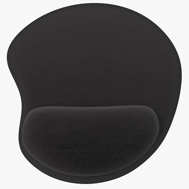 wrist rest mouse pad 3d max