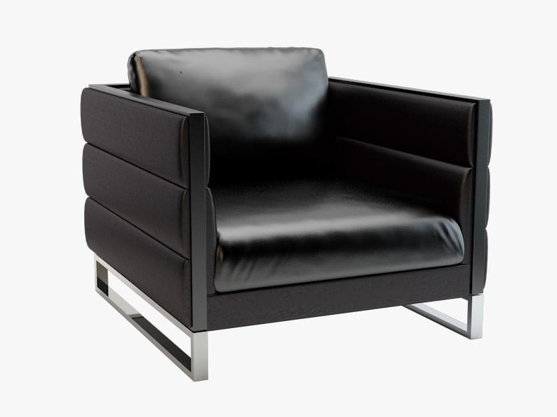 3d model smania caesar armchair