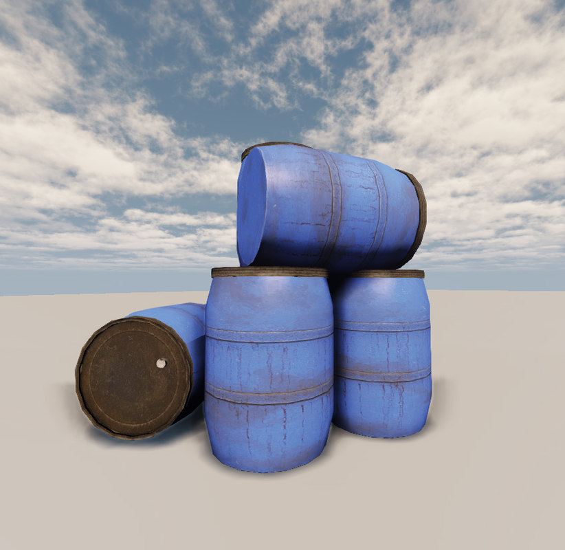 3d model plastic barrel