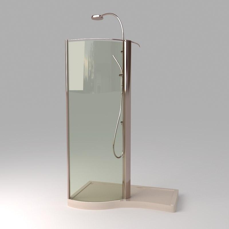 3d 3ds devon shower stall