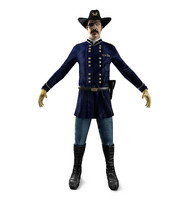 3D Soldier 1800s USA