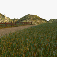 c4d grassland grass version