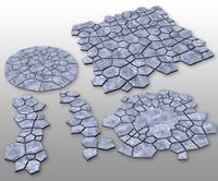 stone tile 3d max