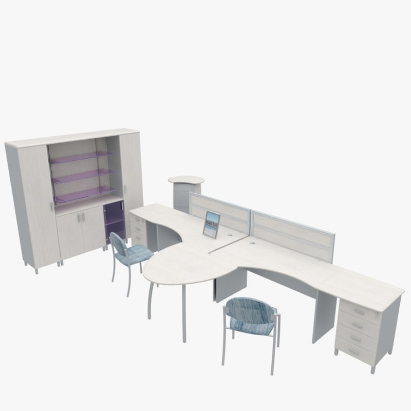 3d office furniture model