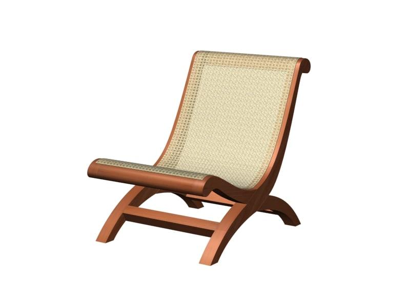3d model butaca chair