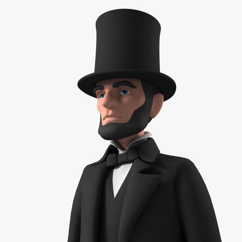 3ds Max Cartoon Abraham Character