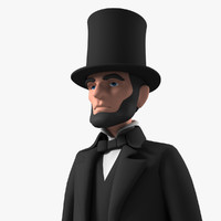 3ds max cartoon abraham character
