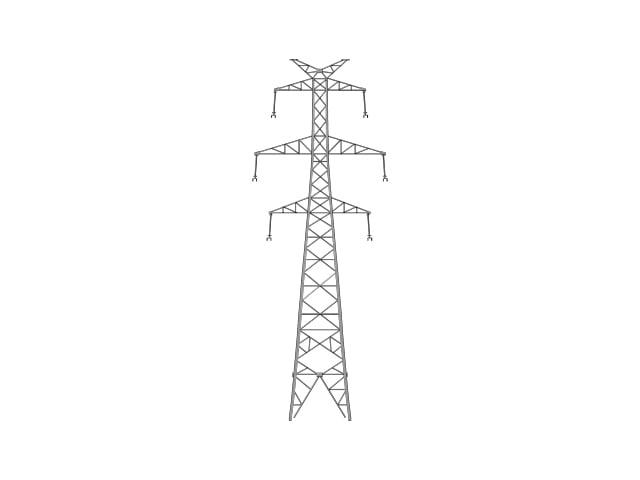 3d model powerline tower