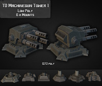 3d td machinegun tower 01