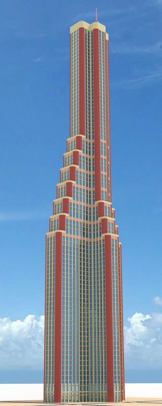 3d model of skyscraper nr 8