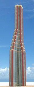 3d model of skyscraper nr 8