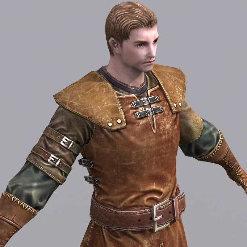 old male leather armor max