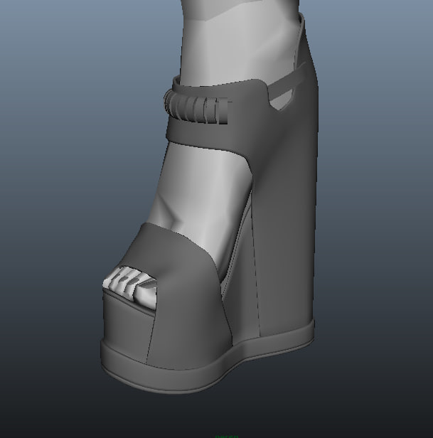 3d model shoe 2