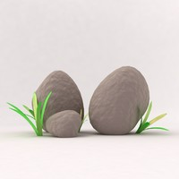 3d model grass stone