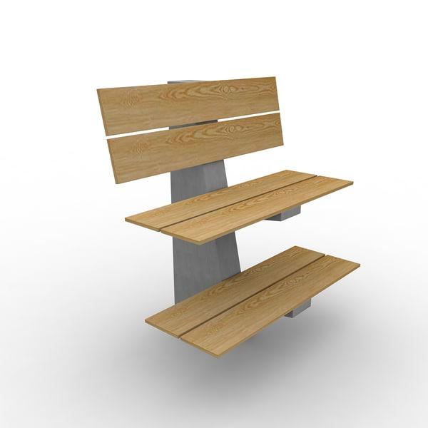 thoms nilsson alternative bench 3d model