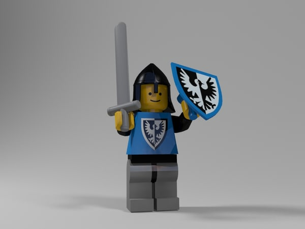 3d max lego medieval character 2