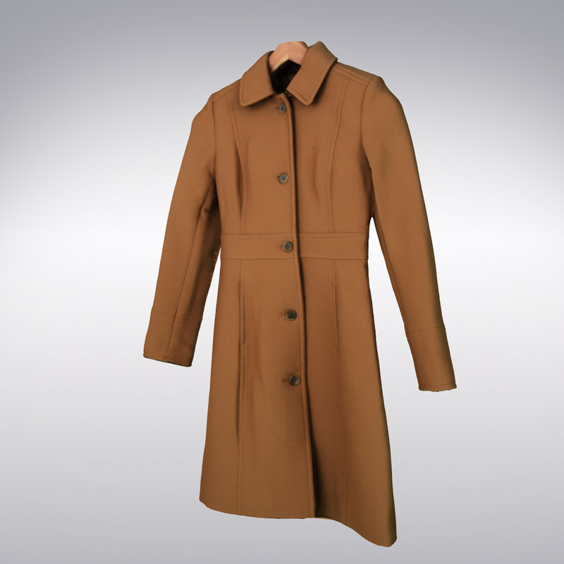 women s wool coat 3d model