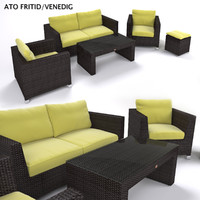 Garden Furniture - Synthetic Rattan Set