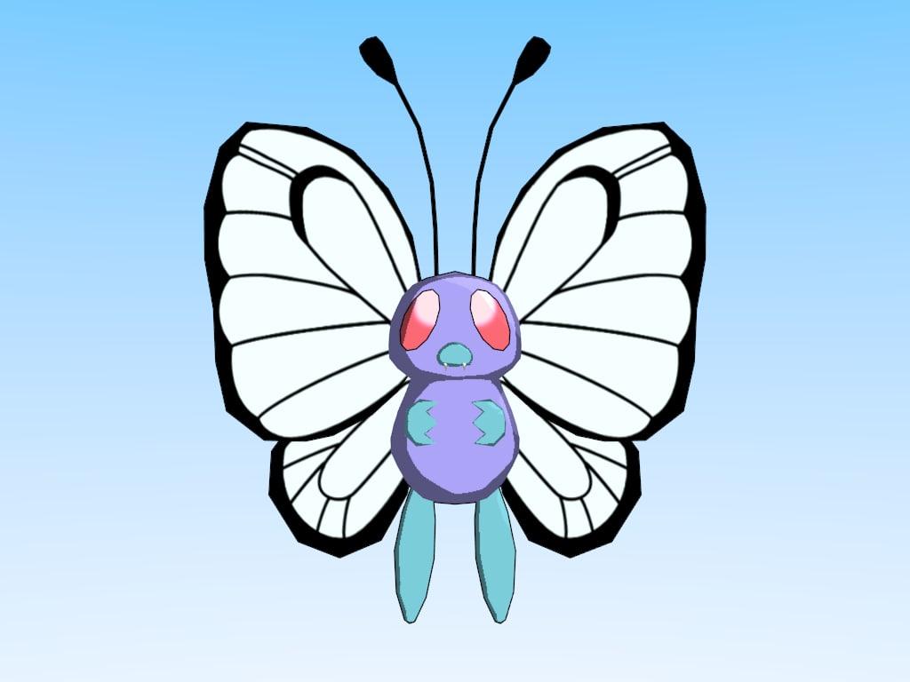3d model pokemon butterfree