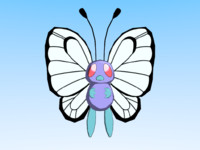 3d model pokemon butterfree