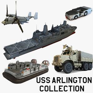 uss arlington 3d max