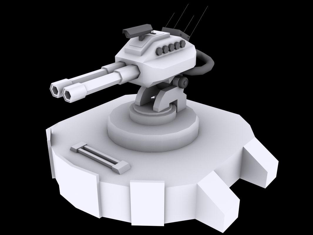 3d max medium laser turret