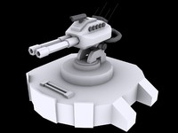 3d max medium laser turret