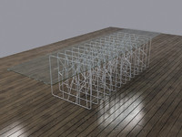 3d model modern spider web style
