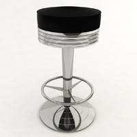 3d diner stool model