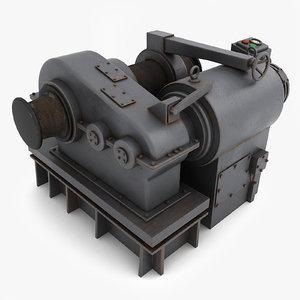 windlass modelled v-ray 3d 3ds