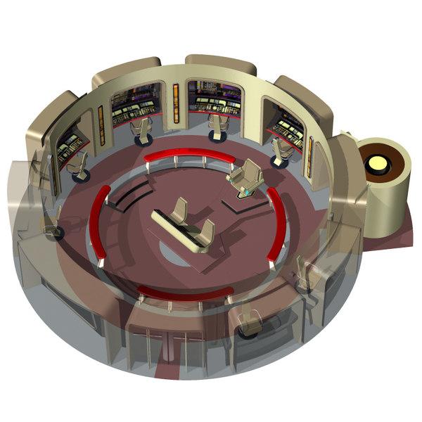 command bridge poser starship 3d model