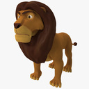cartoon lion 3D models