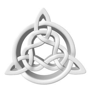 celtic knot 3d obj
