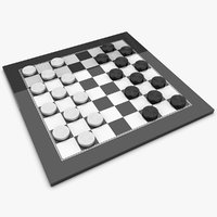 realistic checkers 3d model