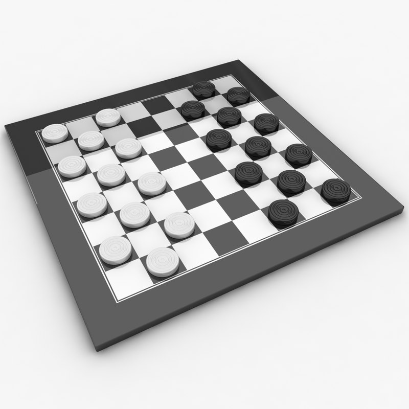 3ds realistic checkers