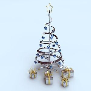 3d design christmas tree metal