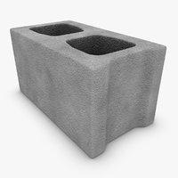 realistic cinder block x