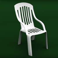3d garden plastic chair model