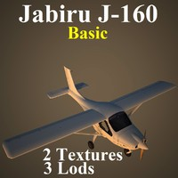 3d model jabiru basic aircraft