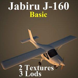 3d model jabiru basic aircraft