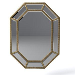 3d model louvre wall mirror pu