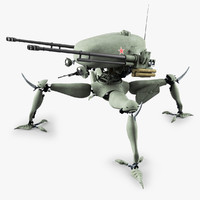 3ds max robot tank drone military