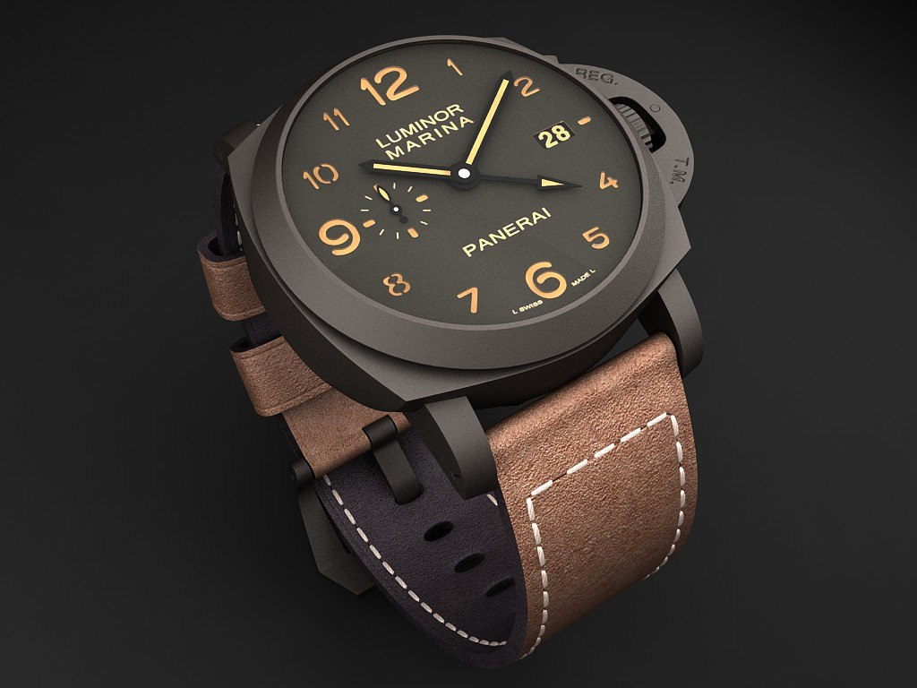 watch mens panerai 3d c4d